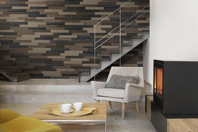 parement bois briquette adh sive guggenheim metropolitain moma gascogne bois. Black Bedroom Furniture Sets. Home Design Ideas