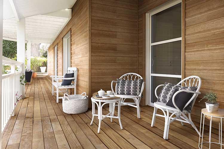 terrasse premium stri e avec plat sur deux faces 22 120 gascogne bois. Black Bedroom Furniture Sets. Home Design Ideas