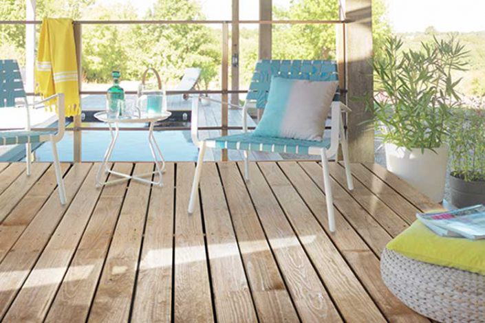 Smooth 2 sides maritime pine wood decking